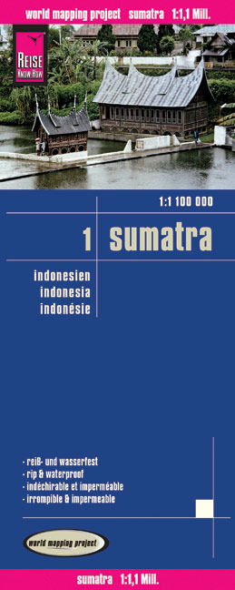 World Mapping Project Reise Know-How Landkarte Sumatra (1:1.100.000) - Indonesien 1 | Dodax.ch