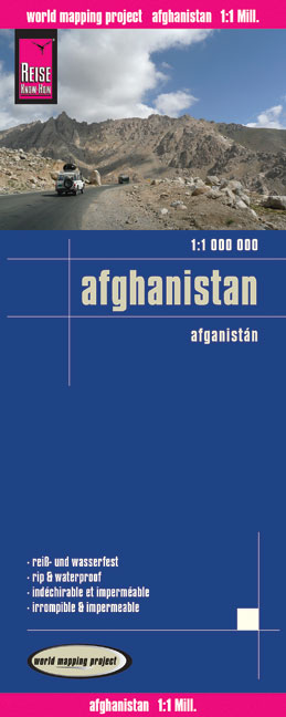 World Mapping Project Reise Know-How Landkarte Afghanistan (1:1.000.000). Afganisán | Dodax.ch