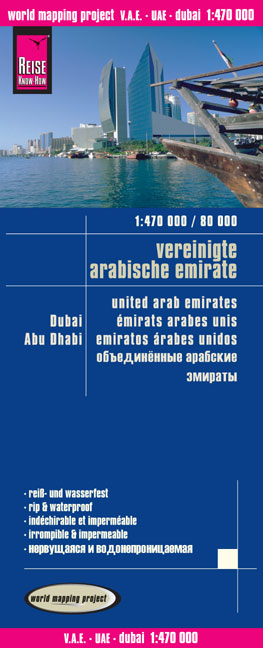 World Mapping Project Vereinigte Arabische Emirate. United Arab Emirates. Émirats Arabes Unis; Emiratos árabes unidos | Dodax.at