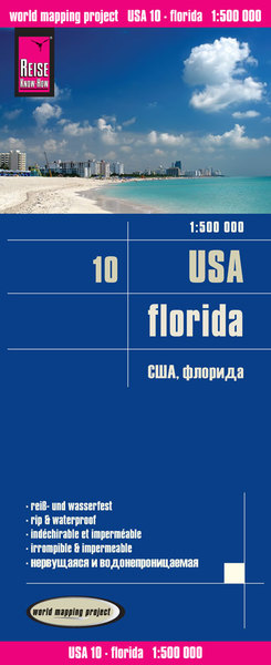 World Mapping Project Reise Know-How Landkarte USA, Florida (1:500.000) | Dodax.at