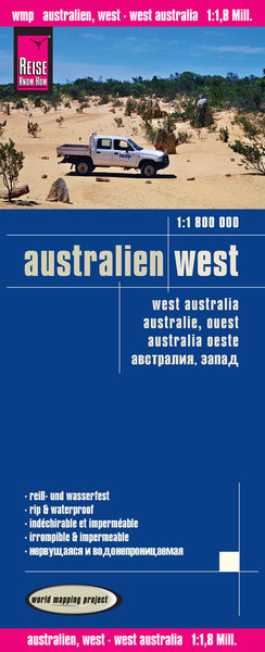 World Mapping Project Reise Know-How Landkarte Australien, West (1:1.800.000) | Dodax.ch