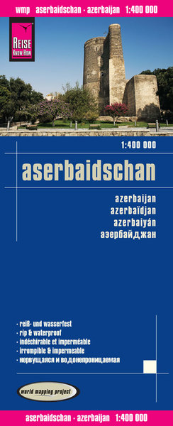 World Mapping Project Reise Know-How Landkarte Aserbaidschan (1:400.000). Azerbaijan / Azerbaidjan / Azerbaiyán | Dodax.at