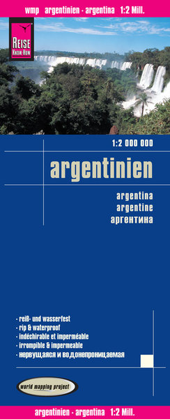 World Mapping Project Reise Know-How Landkarte Argentinien (1:2.000.000). Argentina / Argentine | Dodax.ch