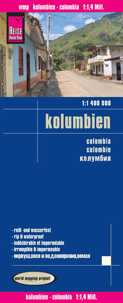 World Mapping Project Reise Know-How Landkarte Kolumbien (1:1.400.000). Colombia / Colombie | Dodax.at