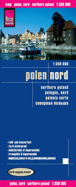 World Mapping Project Reise Know-How Landkarte Polen, Nord (1:350.000). Northern Poland / Pologne Nord / Polonia norte | Dodax.at