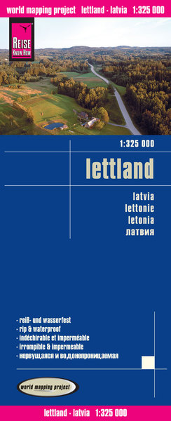 World Mapping Project Reise Know-How Landkarte Lettland (1:325.000). Latvia / Lettonie / Letonia | Dodax.at