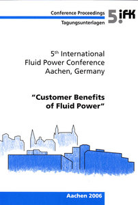 5th International Fluid Power Conference (5th IFK) (Volume 3) | Dodax.ch