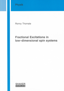 Fractional Excitations in low–dimensional spin systems | Dodax.ch