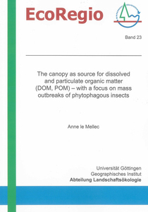 The canopy as source for dissolved and particulate organic matter (DOM, POM) – with a focus on mass outbreaks of phytophagous insects | Dodax.ch