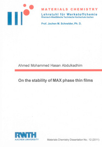 On the stability of MAX phase thin films   Dodax.ch