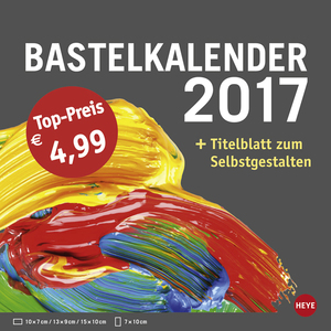 Bastelkalender klein anthrazit 2017 | Dodax.at