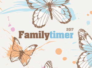 Familytimer Butterfly 2017 - Familienplaner Home & To Go - (15 x 21) | Dodax.ch