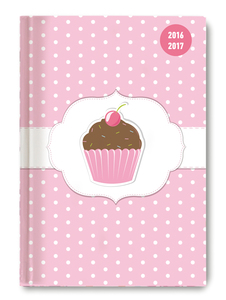 Collegetimer A6 day by day Cupcake 2016/2017 - 1 Tag 1 Seite   Dodax.at