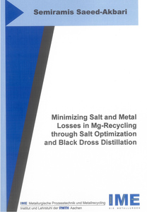 Minimizing Salt and Metal Losses in Mg-Recycling through Salt Optimization and Black Dross Distillation | Dodax.ch