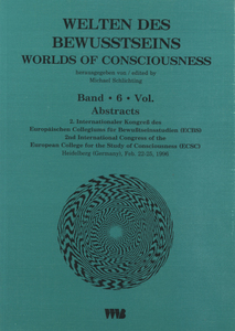 Welten des Bewußtseins: Abstracts /Worlds of Consciousness: Abstracts | Dodax.ch