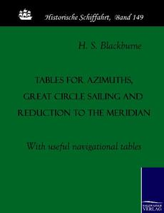 Tables for azimuths, great circle sailing and reduction to the meridian | Dodax.pl