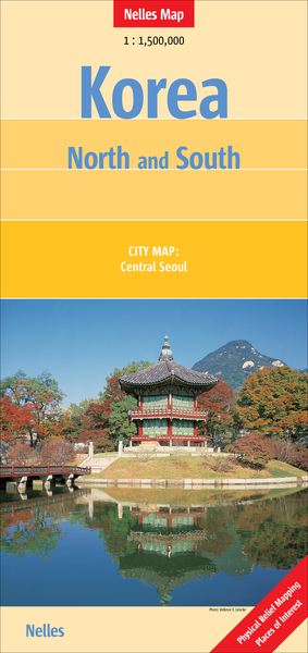 Nelles Maps Korea, North and South | Dodax.ch