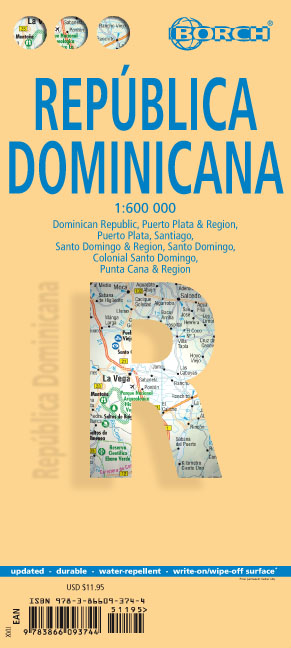 Borch Map Dominican Republic. República Dominicana | Dodax.ch