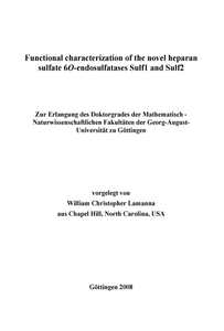 Functional characterization of the novel heparan sulfate 6O-endosulfatases Sulf1 and Sulf2 | Dodax.ch