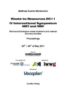 Waste-to-Resources 2011- IV International Symposium MBT and MRF | Dodax.nl