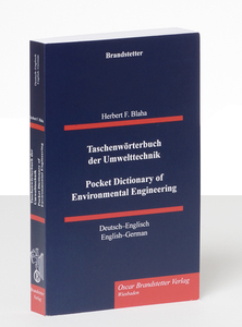 Taschenwörterbuch der Umwelttechnik. Pocket Dictionary of Environmental Engineering | Dodax.ch