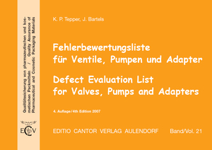 Fehlerbewertungsliste für Ventile, Pumpen und Adapter, m. CD-ROM. Defect Evaluation List for Valves, Pumps and Adaptors, w. CD-ROM | Dodax.ch