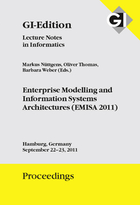 GI Edition Proceedings Band 190 Enterprise Modelling and Information Systems Architectures (EMISA 2011) | Dodax.pl