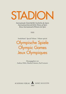 Stadion Band 29(2003) Sonderband. Olympic Games - Olympische Spiele - Jeux Olympiques | Dodax.ch