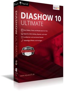 AquaSoft DiaShow 10 Ultimate, 1 DVD-Rom | Dodax.at