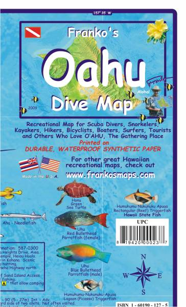 Oahu Dive Guide Map and Fishcard | Dodax.co.uk
