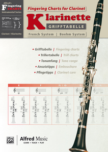 Grifftabelle Klarinette Boehm System / Fingering Charts for Bb-Clarinet French System   Dodax.ch