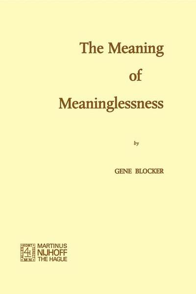 The Meaning of Meaninglessness   Dodax.ch