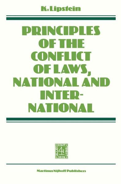 Principles of the Conflict of Laws National and International | Dodax.pl