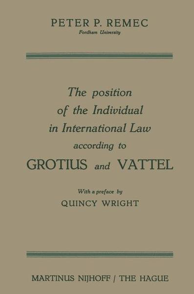 The Position of the Individual in International Law according to Grotius and Vattel | Dodax.pl