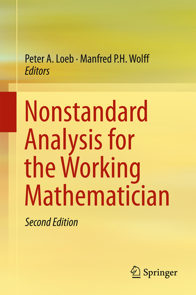 Nonstandard Analysis for the Working Mathematician | Dodax.at