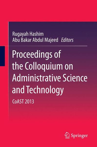Proceedings of the Colloquium on Administrative Science and Technology | Dodax.ch